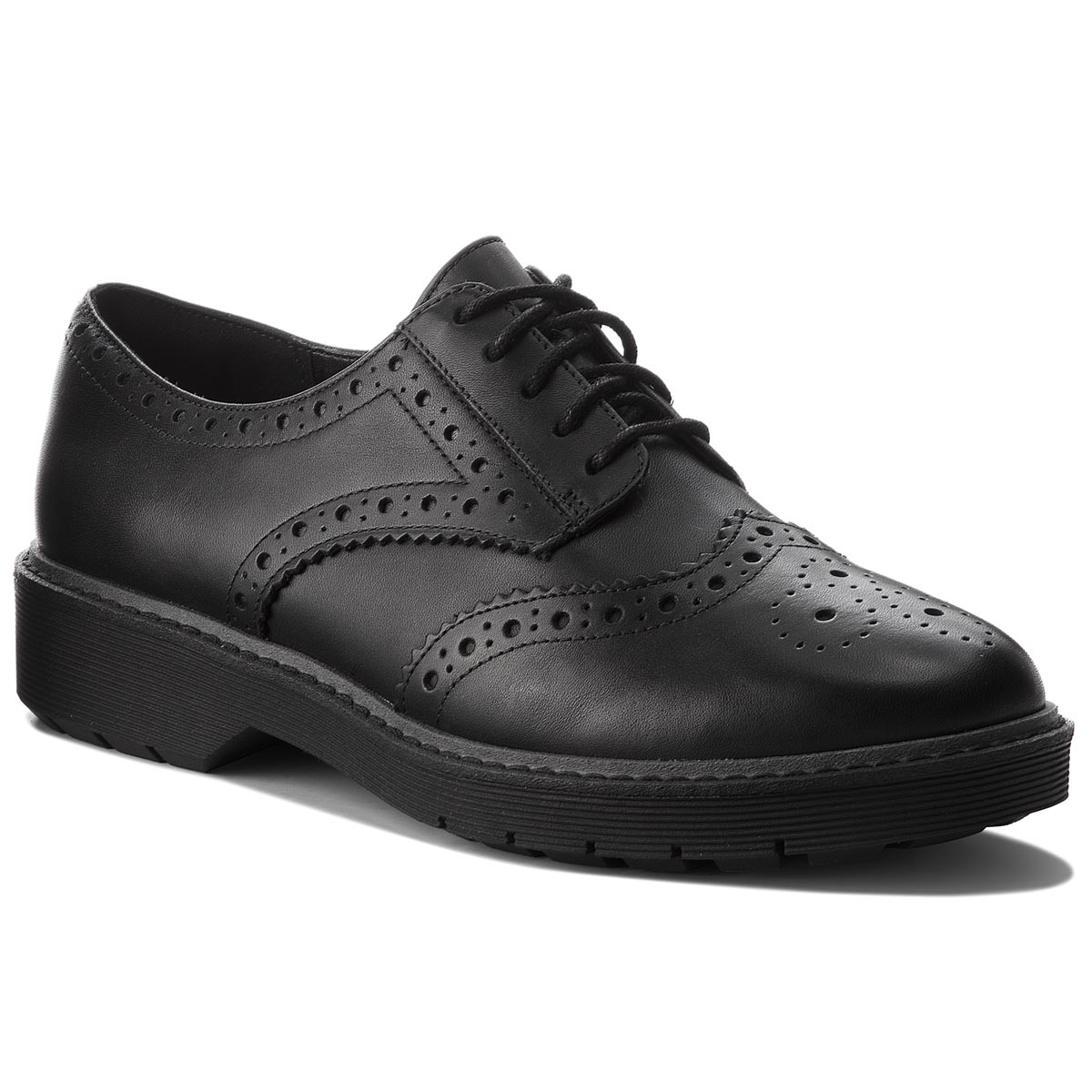 zapatos Oxford CLARKS Alexa Darcy 261352404 Black Leather