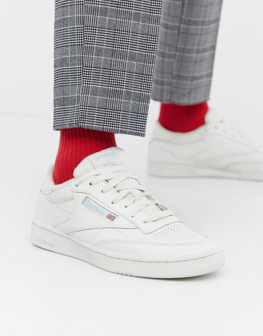 Zapatillas de deporte blancas Club C 85 MU de Reebok