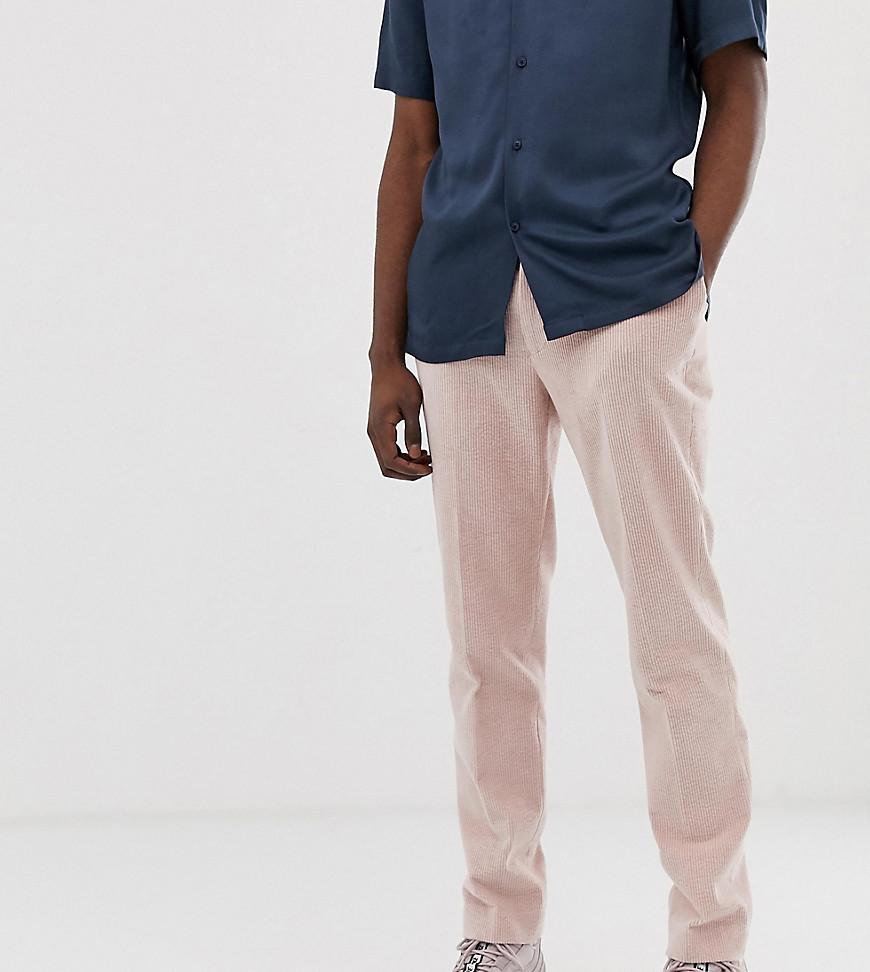 nuevo producto 66f7e 85821 Pantalones capri de vestir ajustados en pana rosa de ASOS DESIGN Tall