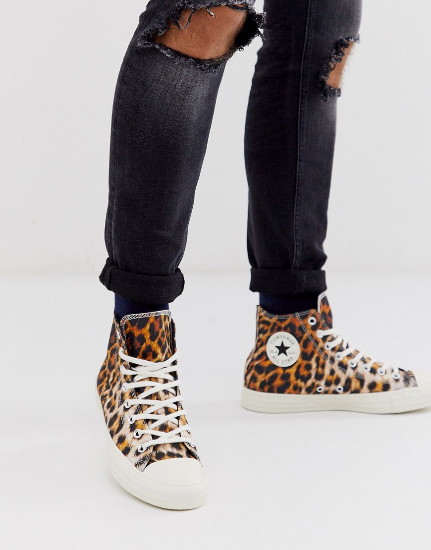 zapatillas converse leopardo