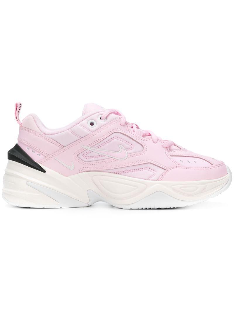 Nike zapatillas con cordones y plataforma Rosa