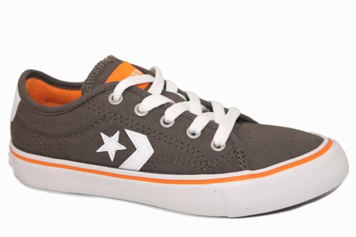 ZAPATILLAS CONVERSE JUNIOR STAR REPLAY OX MARRON, NARANJA Y BLANCO