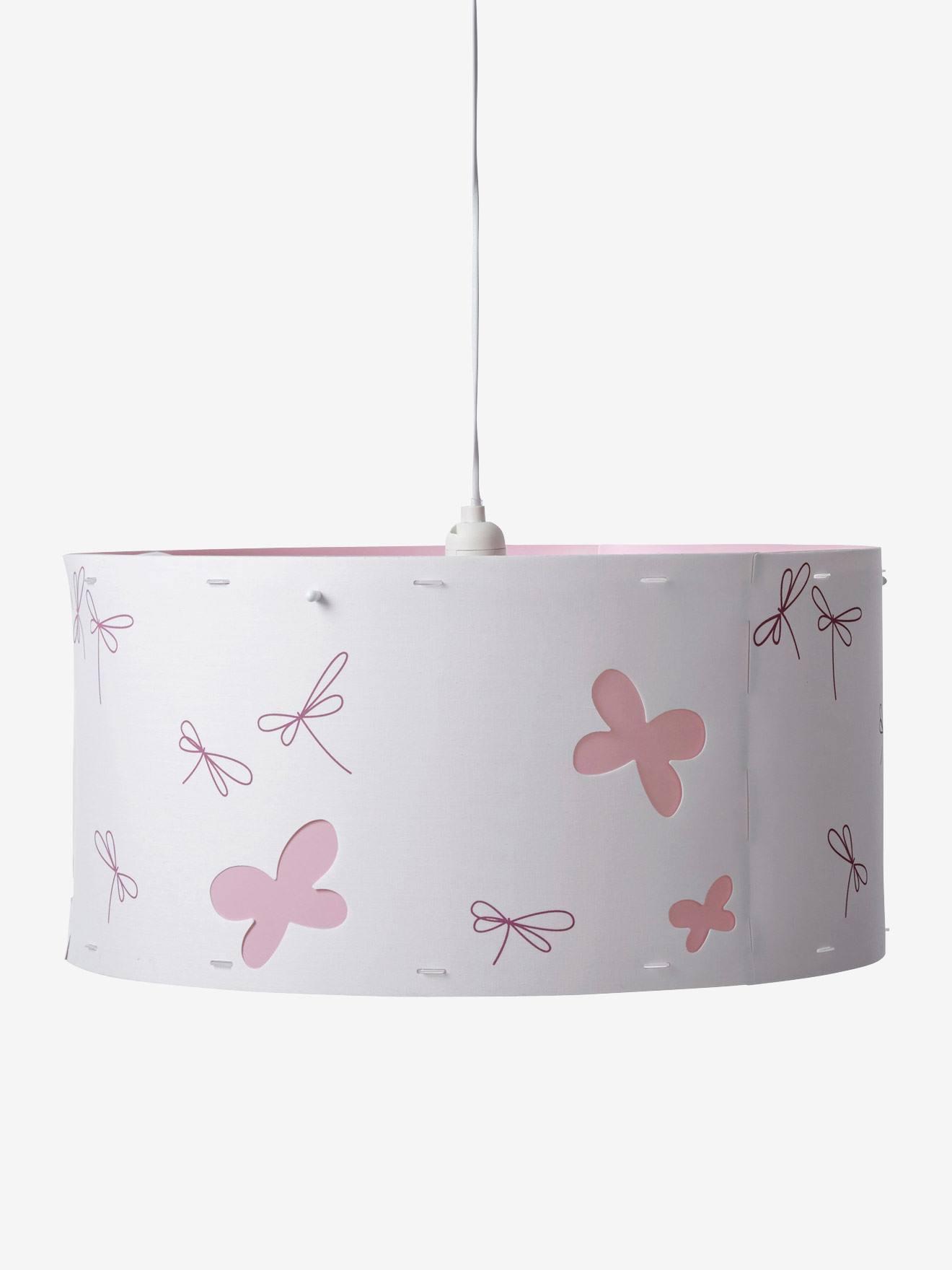 VERTBAUDET Mariposas de Pantalla lámpara techo blanco de y libélulas OZPXiukT