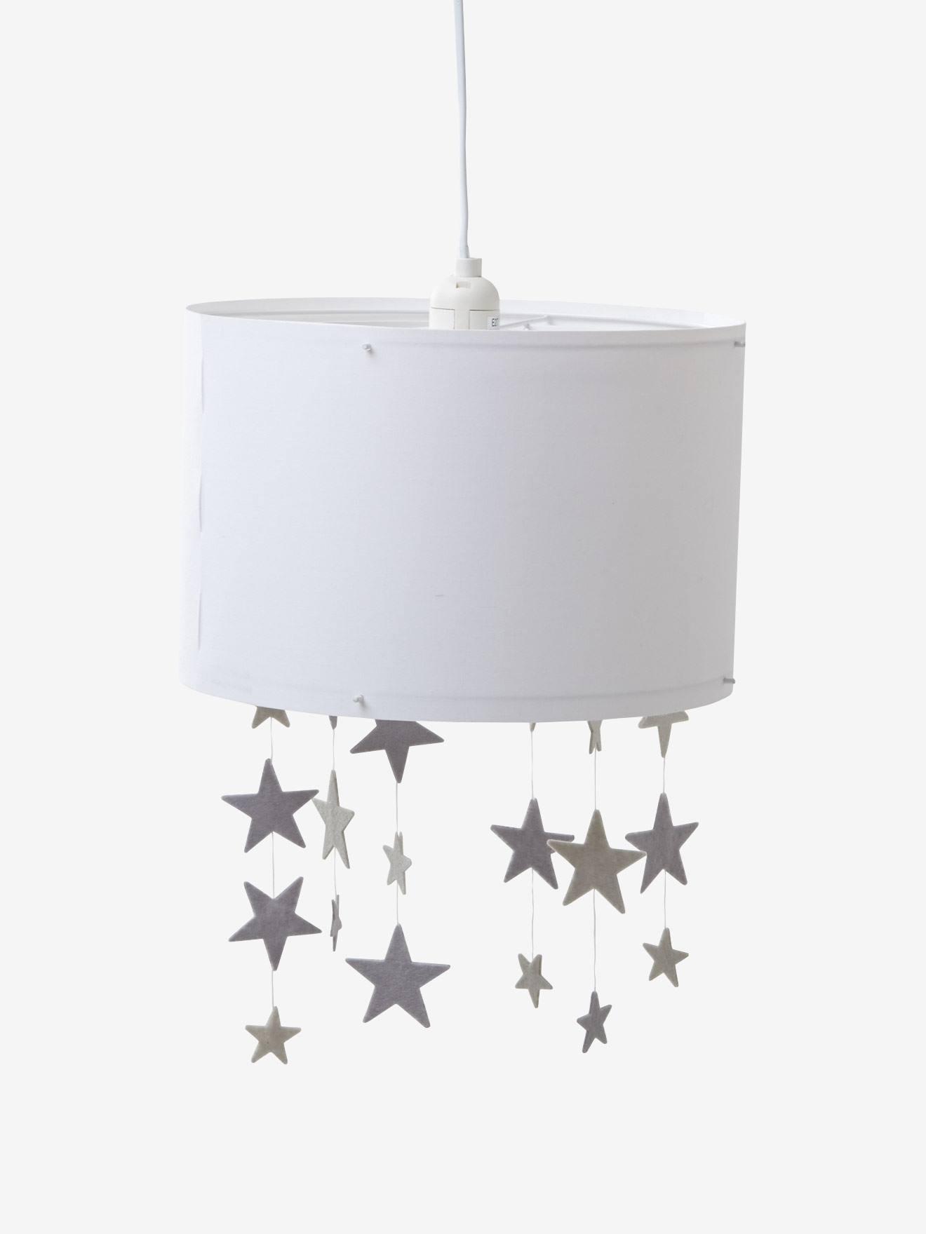 de VERTBAUDET Pantalla blanco gris Estrellas lámpara para techo bfv6I7gyY