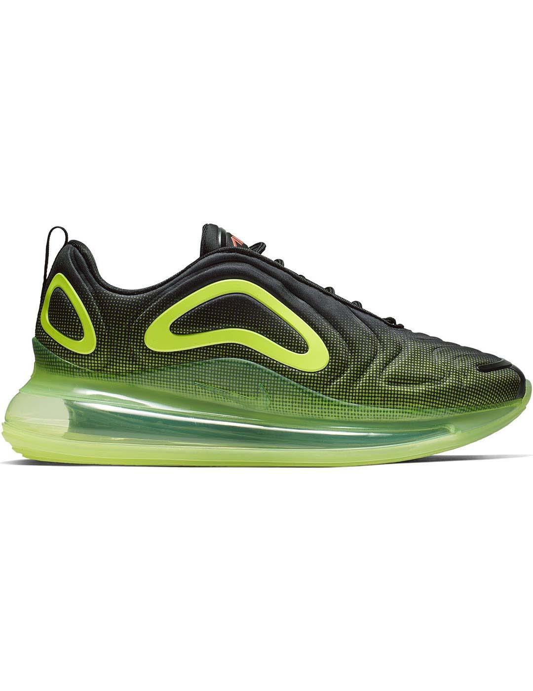 Zapatillas Nike Air Max 720 Negroverde Hombre 41