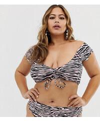 e58c16bec211 Braguitas de bikini de talle alto con diseño en zigzag de Junarose ...