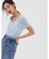Camiseta sin mangas larga de canalé en beis de Mango asos gris Camisetas manga larga