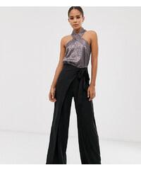 Pantalones de jacquard de pernera ancha en negro de Weekday asos el-negro Algodón