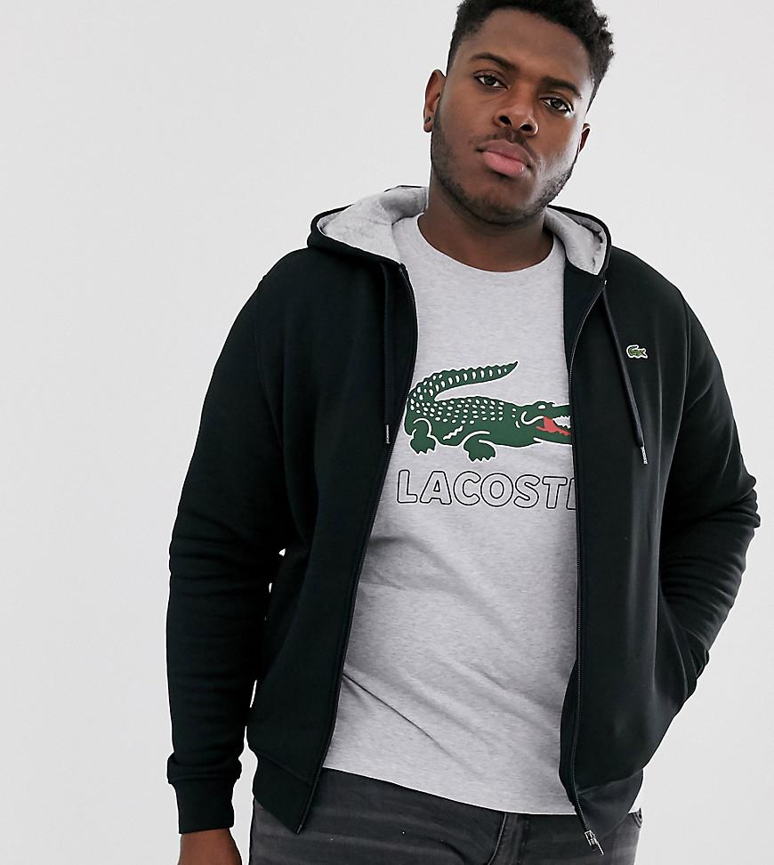 comprar baratas diseño superior gran selección de 2019 Lacoste Sport Sudadera negra con capucha, cremallera y logo de Lacoste