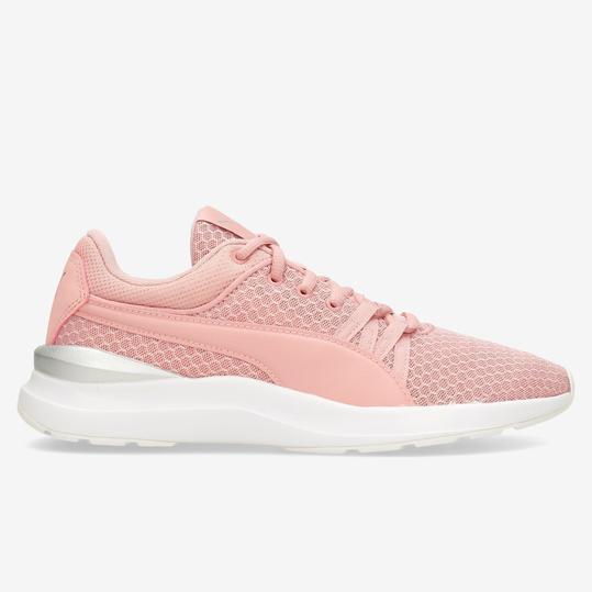 zapatillas mujer rosa puma