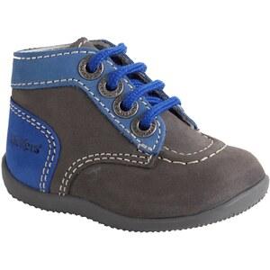 Zapatillas de caña alta para bebé niño Kilwi Low GEOX marron oscuro liso
