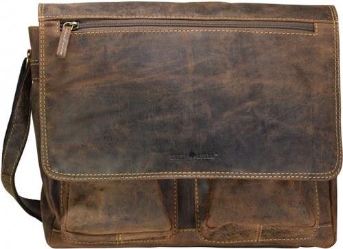 Greenburry bolso de bandolera piel Marrón Vintage mensajero hombre