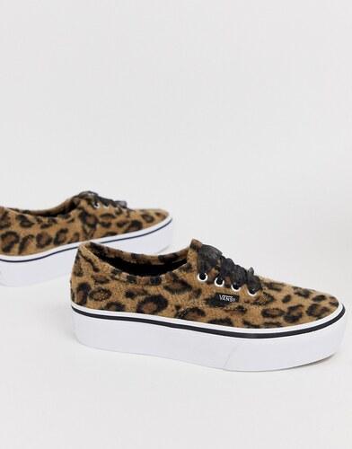 vans plataforma mujer leopardo