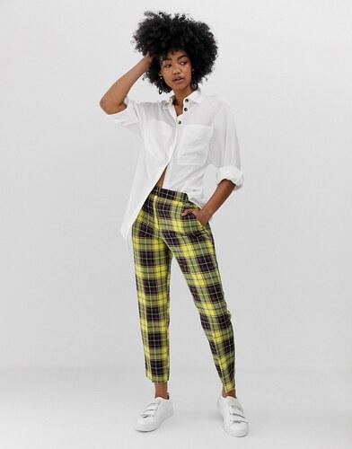 Pantalones Tobilleros A Cuadros Amarillos Ultimate De Asos Design Glami Es