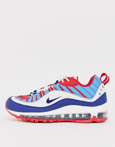 falso Miedo a morir por favor no lo hagas  Zapatillas de deporte rojas, blancas y azules Air Max 98 de Nike - GLAMI.es