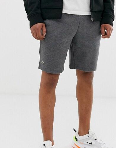 Lacoste Sport Pantalones Cortos De Punto Gris Con Logo De Lacoste Glami Es