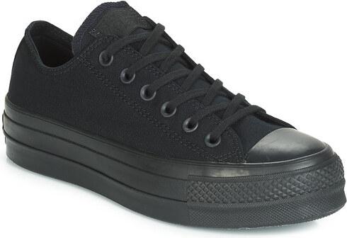 converse chuck taylor all star clean lift mujer negro ox zapatillas