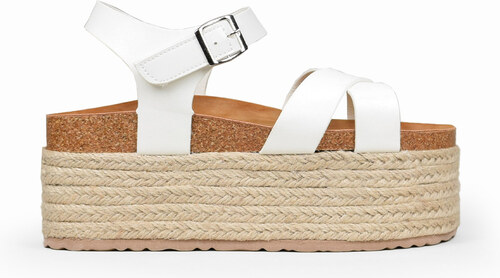 Bosanova Sandalias blancas plataforma esparto Color