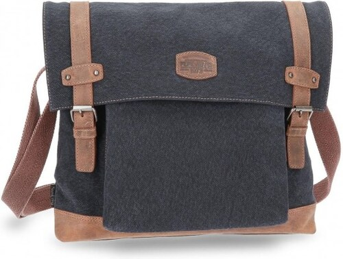 Pepe Jeans Bandolera grande Allblack con porta tablet