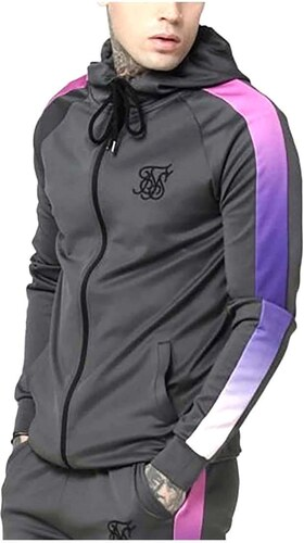 Xs Fade Through Urb Sudadera Zip Hoodie Siksilk Panel vOymN0w8n
