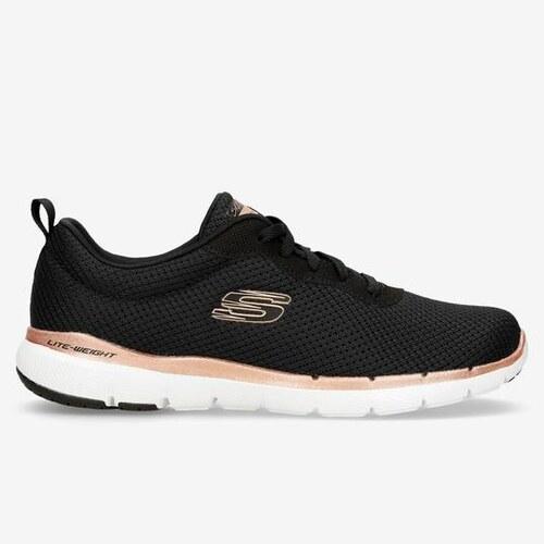 Skechers Flex Appeal 3.0 Negro Zapatillas Running Mujer