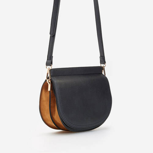 Reserved Bolso saddle de mano Black GLAMI.es