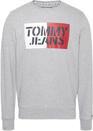 Tommy Jeans Hombre Essential Graphic Crew sudadera Manga Larga