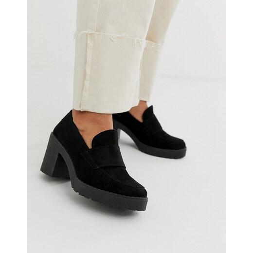 Zapatos de tacón medio negros con suela gruesa Shores de