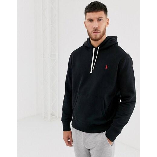Sudadera con capucha y logo de jugador en negro de Polo