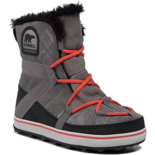 Botas de nieve SOREL Glacy Explorer Shortie NL2079 Quarry
